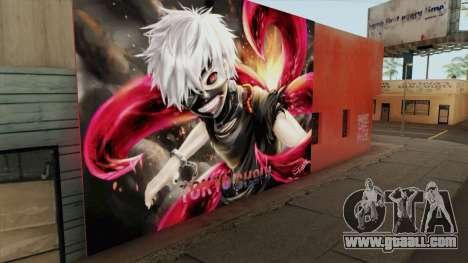 Tokyo Ghoul Kaneki Ken Wall for GTA San Andreas