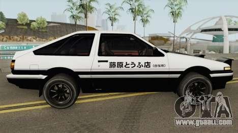 Toyota AE86 Initial D (Final) Fujiwara Takumi for GTA San Andreas