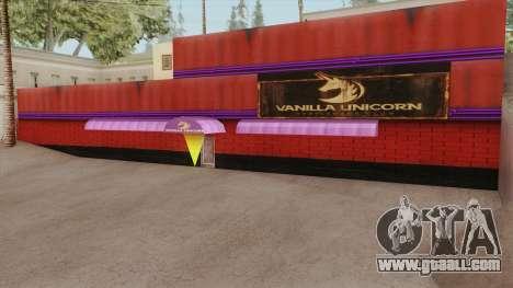 Vanilla Unicorn GTA V for GTA San Andreas
