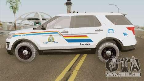 Ford Explorer 2017 SASP RCMP for GTA San Andreas