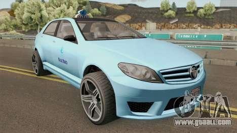 Benefactor Schafter Blue Bird Taxi GTA V for GTA San Andreas