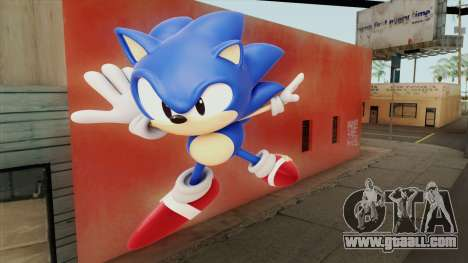 Sonic Wall Mod for GTA San Andreas
