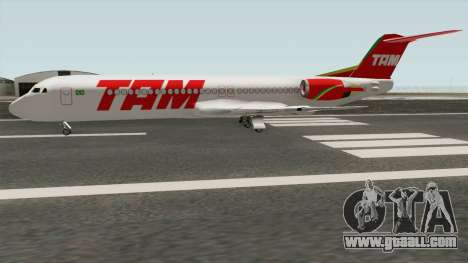 Fokker 100 TAM Airlines for GTA San Andreas