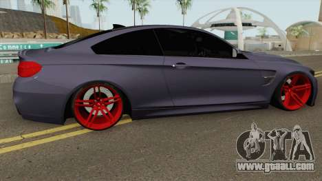 BMW M4 2014 SlowDesign (Red Wheels) for GTA San Andreas