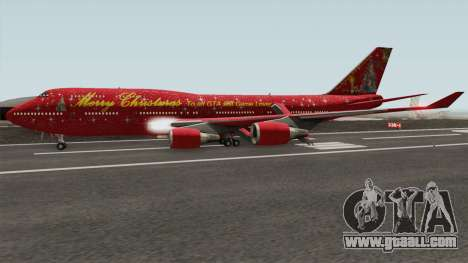 Boeing 747-400 Christmas for GTA San Andreas