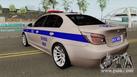 Turkish police car BMW M5 E60 for GTA San Andreas