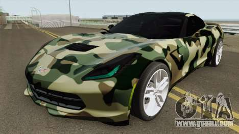 Chevrolet Corvette C7 (Army Style) for GTA San Andreas