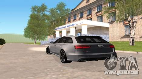 Audi RS6 C7 2017 for GTA San Andreas