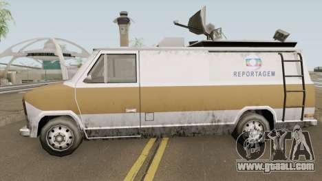 Newsvan Van Reportagem (Emissoras BR) TCGTABR for GTA San Andreas