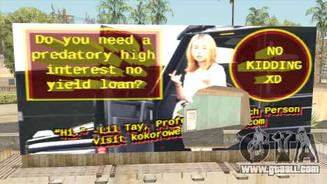 Lil Tay Billboard for GTA San Andreas