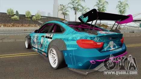 BMW M4 F82 Hatsune Miku for GTA San Andreas