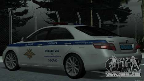 Toyota Camry 2007 MS DPS traffic police for GTA San Andreas