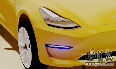 Tesla Model 3 for GTA San Andreas