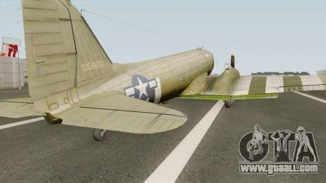 Douglas C-47 Skytrain for GTA San Andreas
