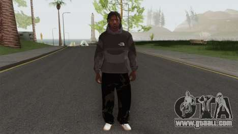 The North Face Black Guy for GTA San Andreas