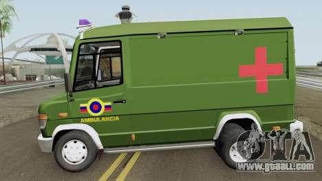 Mercedes-Benz Vario 512D Ambulancia Militar for GTA San Andreas