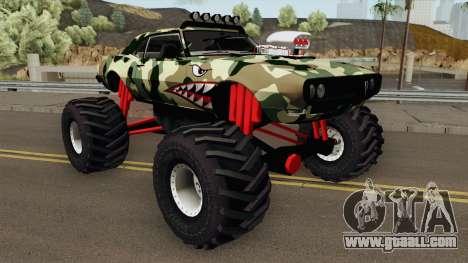 Pontiac Firebird Camo Shark Monster Truck 1968 for GTA San Andreas