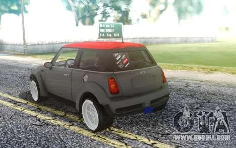Mini Cooper S for GTA San Andreas