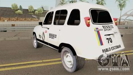 Renault 4 Rally of Pablo Escobar Series for GTA San Andreas