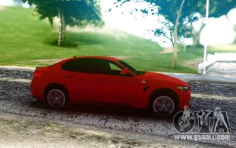 Alfa Romeo Giulia Quadrifoglio 17 for GTA San Andreas