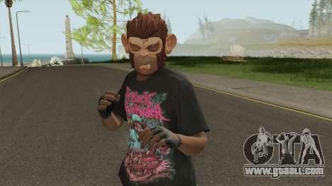 Skin Random (Monkey Mask) for GTA San Andreas