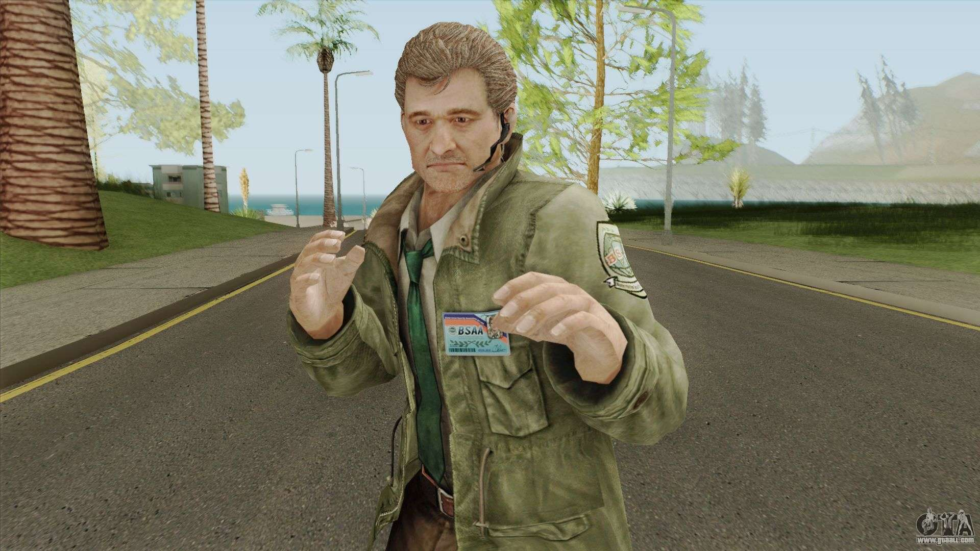 Clive O Brian From Resident Evil Revelations For Gta San Andreas