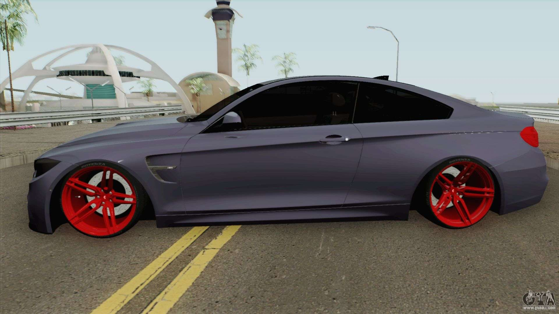 Bmw M4 2014 Slowdesign Red Wheels For Gta San Andreas