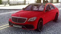 Mercedes-Benz S63 W222 2018 Red for GTA San Andreas