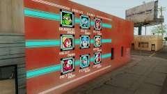 Mega Man Stage Select Wall for GTA San Andreas