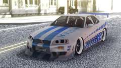 Nissan Skyline R34 FnF Sport for GTA San Andreas