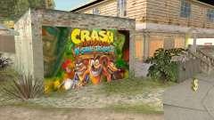 Crash Bandicoot N. Sane Trilogy Wall Garage CJ for GTA San Andreas