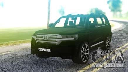 Toyota Land Cruiser Black for GTA San Andreas