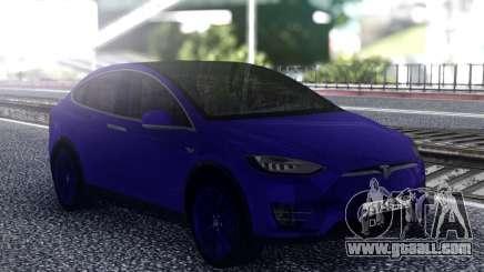 Tesla Model X Blue for GTA San Andreas