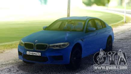 BMW M5 F90 Blue for GTA San Andreas