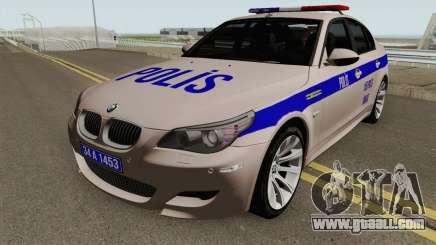 Turkish police car BMW M5 E60 for GTA San Andreas