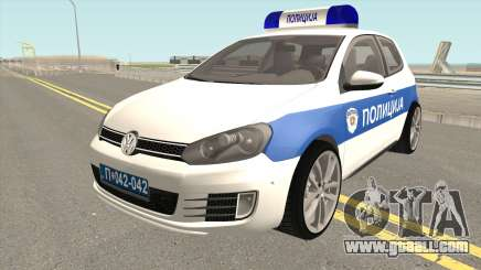 Volkswagen Golf VI Serbian Police for GTA San Andreas