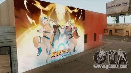 Naruto Shippuden Wall for GTA San Andreas