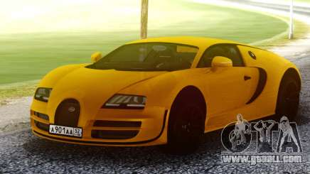 Bugatti Veyron Yellow for GTA San Andreas