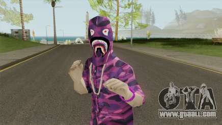 Skin BAPE Purple Camo for GTA San Andreas