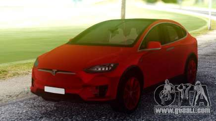 Tesla Model X Red for GTA San Andreas