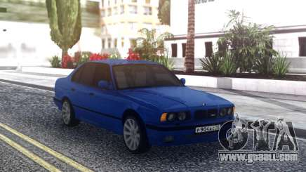 BMW M5 E34 Blue Sedan for GTA San Andreas