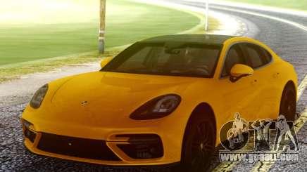 Porsche Panamera Yellow for GTA San Andreas