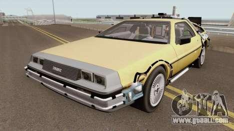 DeLorean DMC-12 (Back To The Future) for GTA San Andreas