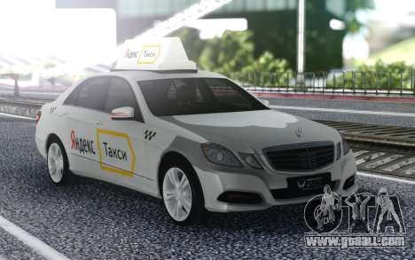 Mercedes-Benz E-Class A Yandex Taxi for GTA San Andreas