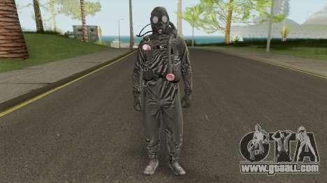 HazMat Skin Black for GTA San Andreas