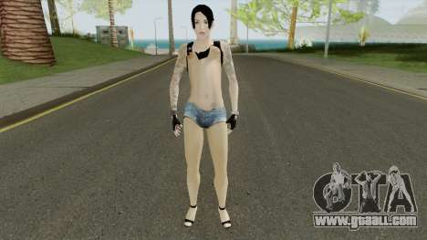 Rock Girl Skin for GTA San Andreas