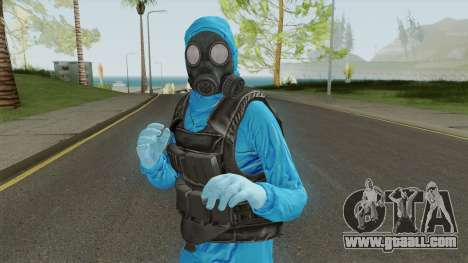 HazMat Skin Blue for GTA San Andreas
