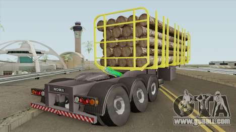 Trailer B-Doble Timber for GTA San Andreas