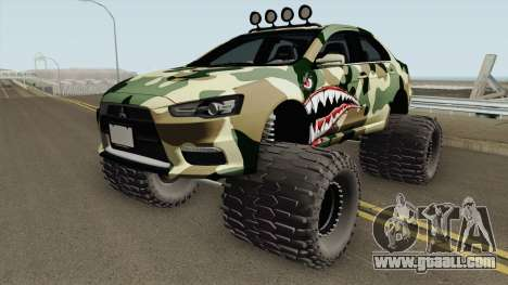 Mitsubishi Evolution X Off Road Camo Shark for GTA San Andreas