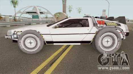 Delorean DMC-12 Time Machine BTTF 2 for GTA San Andreas